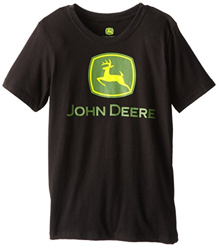 John Deere Big Boys' Short Sleeve Tee, Black, Medium front-507345