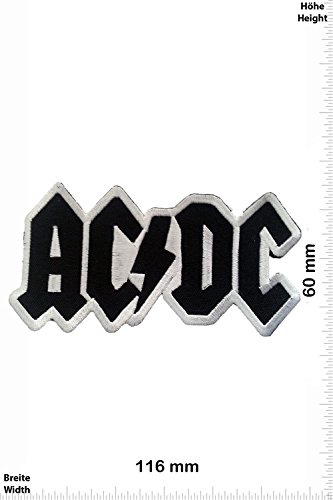 Patch - ACDC Aufnäher black - AC DC - MusicPatch - Rock - Chaleco - toppa - applicazione - Ricamato termo-adesivo - Give Away