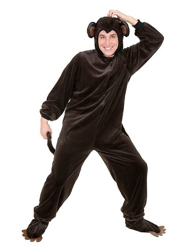 Charades Men's Adult Plus-Size Monkey Costume Set