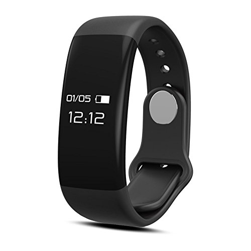 Fitness Tracker, NLSD Bluetooth Bracelet Smart Wristband with Heart Rate Monitor, Pedometer, Sleep Monitor, Tracking Calories burned, Remote Camera For iOS & Android Phones(H6 Black)
