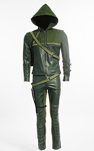 LYLAS Cosplay Costume Green Arrow Man Oliver Queen Halloween costume hoodies