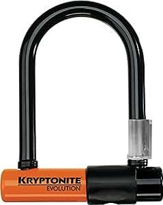 Kryptonite Evolution Mini-5 Bicycle U-Lock with Transit FlexFrame Bracket (3.25-Inch x 5.5-Inch)
