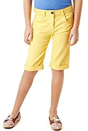 Cotton Rich Turn Up Hem Long Shorts