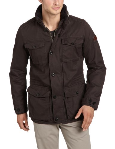 Marc O'Polo Men's 227 0200 70102 Parka Brown (770 Darkwood) 46