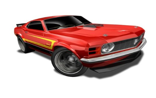 Hot Wheels - '70 Ford Mustang Mach 1 (Red) - Muscle Mania, Ford 12 - 8/10 ~ 118/247 [Scale 1:64]