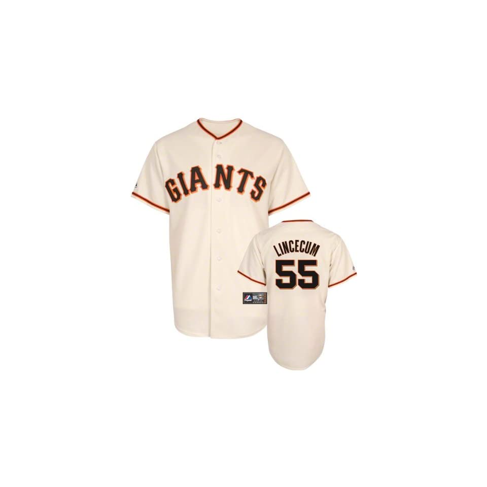 Tim Lincecum Majestic Replica San Francisco Giants Kids 4 7 Jersey