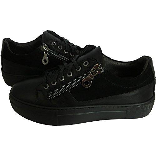 Scarpe uomo Exton 250 0727 - Sneaker havana nero camoscio made in italy (41)