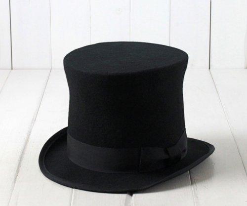 (エド) edo 日本製 ウールフェルトシルクハット[HIGH] 16266501 国産 トップハット 羊毛 本格派 メンズ 男性 紳士 帽子