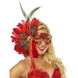 Stunning Spanish Peacock Feather Mask