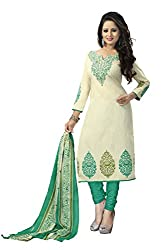 Vaamsi Women's Salwar Suit Dress Material (Deep1022_Beige_Free Size)