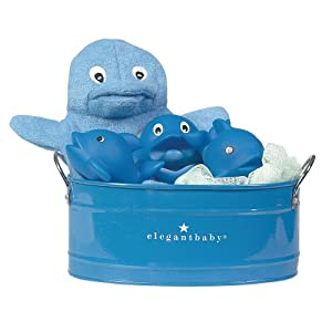 elegant baby bath bucket gift set dolphin bathtub toys baby. Black Bedroom Furniture Sets. Home Design Ideas