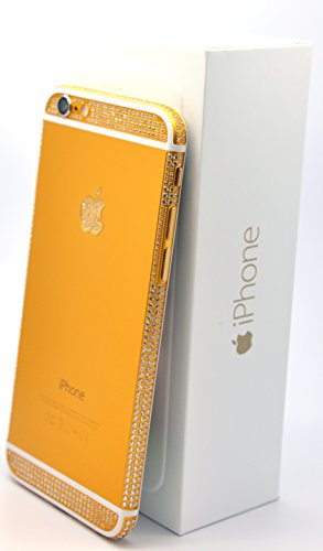 iColorLCD discount duty free Apple Iphone 6 - 128gb Gold Plated 24k with Swarovski Crystals / Gold and White/ Verizon - Factory Unlocked/ International/ SIM Free