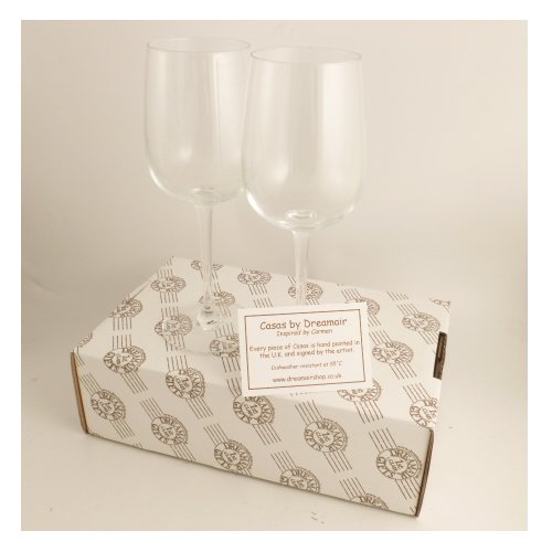 Personalized 1st (Paper) Wedding Anniversary Pair of Wine Glasses Flower (50 extra characters)
