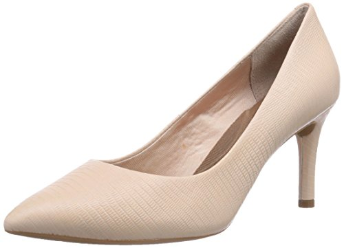 Rockport TOTAL MOTION  75MMPTH, Decolleté chiuse donna, Beige (Beige (S NDE LIZARD EMBSS)), 40