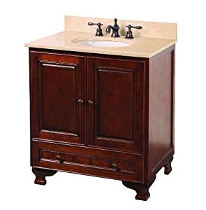 Foremost Hfna3021 Hartford 31 Vanity Combo With Marble Vanity Top Undermount Sink Walnut