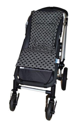 Tivoli Couture Plush Reversible Stroller Liner, Metro Black