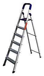 Glow Plast Folding Aluminium Ladder - Home Pro 6 Steps With 7 Years Warranty