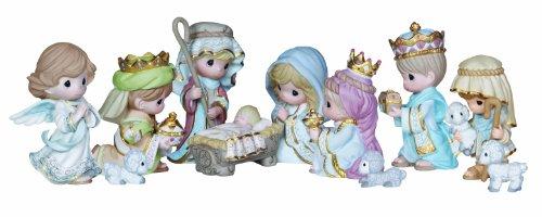 Precious Moments Mini Nativity Figurine, Set of 11