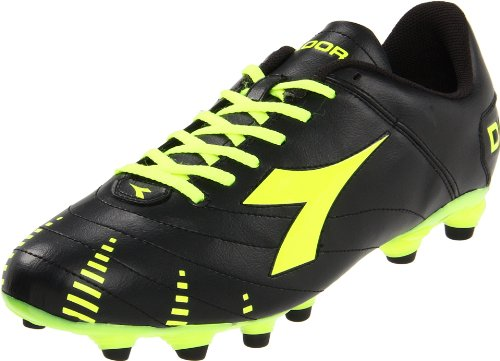 Diadora Men's Evoluzione R MG Soccer Cleat,Black/Fluorescent