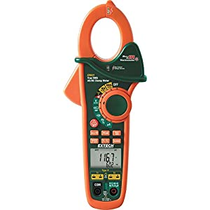 Extech EX623 400A True RMS AC/DC Clamp Meter with Dual Type K Temperature Input + InfraRed Thermometer + Non-Contact AC Voltage Detector
