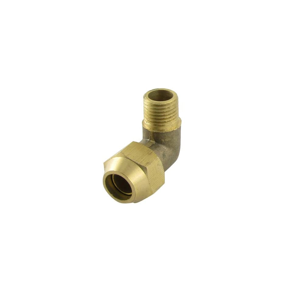 Amico 12mm Male Thread Brass Pipe Tubing Connector Adapter
