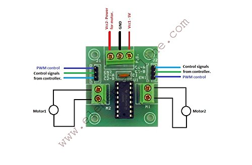 Interfacing l293d motor with arduino preethi for L293d motor driver module