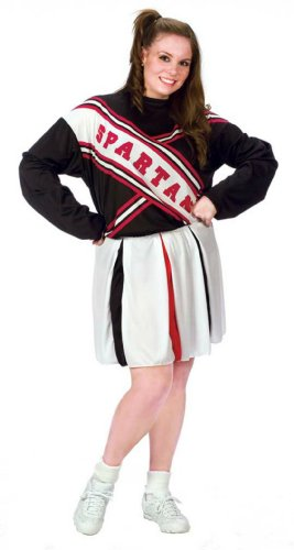 Cheerleader Spartan Girl Plus Adult Womens Costume