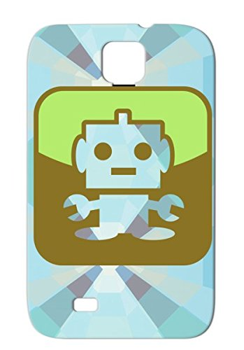 Toy Geek Future Cute Machine Technology Childhood Robotics Symbol Phone Child Robot Black Case For Sumsang Galaxy S4 Symbol23 2C front-1065055