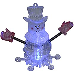 LED Mini USB Powered Color Changing Decorative Snowman Light for Merry Christmas Holiday Time Decor-(Color Changing)