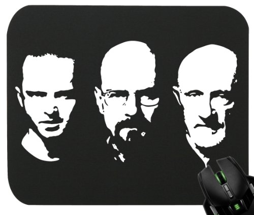 touchlines-walter-jesse-mike-tappetino-per-mouse-gaming-e-ufficio-230-x-190-x-5-mm-black-230x190x5mm