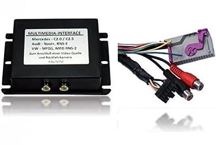 Multimedia interface de commande au volant cAN bus pour rNS-e avec jeu de câbles