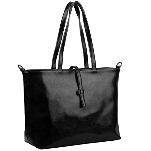 yaluxe-femme-cabas-sac-a-main-portatif-simple-vogue-cuir-enduit-grand-capacite-noir