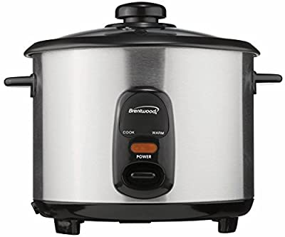 Brentwood TS-10 5-Cup Steel Rice Cooker, Stainless from Brentwood