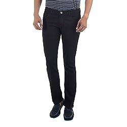 Club Vintage Mens Slim Fit Jeans(CVJN_Round.Pkt_ZB32_Black_32)