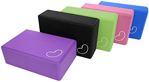 Yoga Block 1 or 2 pack 3 in. x 6 in. x 9 in. Larger Size High Quality 4 colors by Bean Products™