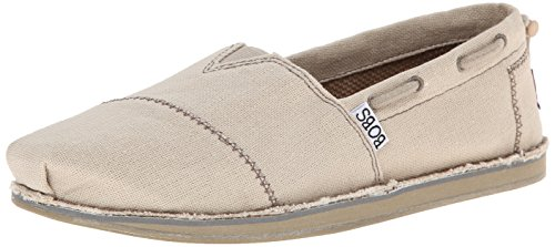 BOBS from Skechers Women's Chill Slip-On Flat,Natural,9 M US (Bobs Shoes Womens compare prices)