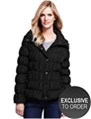 M&S Collection Funnel Neck Quilted Padded Jacket with Stormwear™