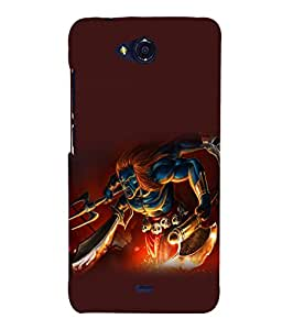 printtech Hindu Demon Angry Back Case Cover for MicromaxBolt Q335
