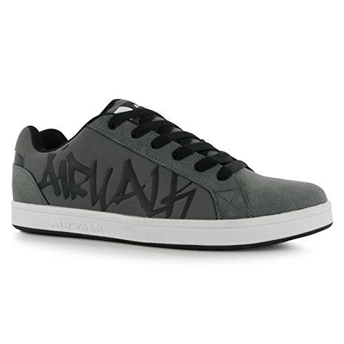 airwalk-neptune-kinder-jungen-skate-schuhe-schnuer-sport-sneaker-turnschuhe-grau-3-36