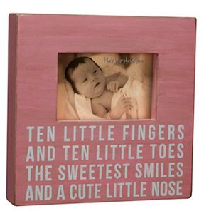Box Frame-ten Little Fingers and Ten Little Toes the Sweetest Smiles and a Cute Little Nose-pink - 1