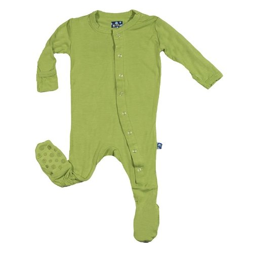 Kickee Pants Footie In Meadow, 3-6M front-103802