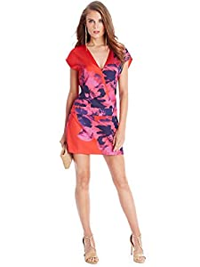GUESS by Marciano Women's Floral Plaid Minidress, MULTICOLORED (SMALL)