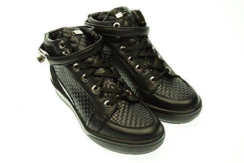 ALBANO donna sneakers alte con zeppa interna 9925 GI144 CERVO NERO 40 Nero