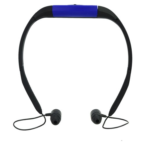 4Gb Swim Headphone Sport Ipx8 3 Atm Waterproof Mp3 Player/Fm Radio Blue