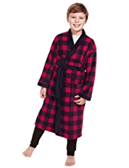 Checked Soft & Cosy Fleece Dressing Gown