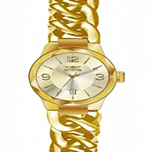 Invicta Women's 15407 Angel Quartz 3 Hand Gold Dial Watch