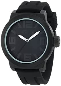 Kenneth Cole Reaction Men's RK1233 Triple Black with White Details Watch