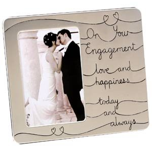 Love Happiness On Your Engagement Photo