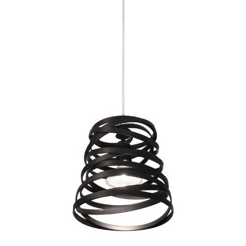 Studio Italia Design - Paralume a sospensione, modello Curl My Light SO, colore: nero