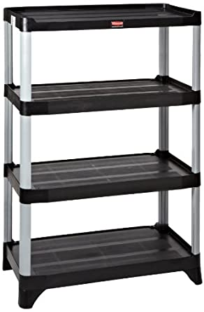 Rubbermaid Commercial FG9T3800BLA 4 Shelf Unit Shelving 800 Pound